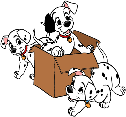 436x405 101 Dalmatians Puppies Clip Art 4 Disney Clip Art Galore