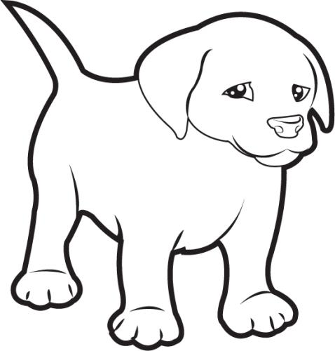 478x500 Puppy clip art black and white Clipart Panda