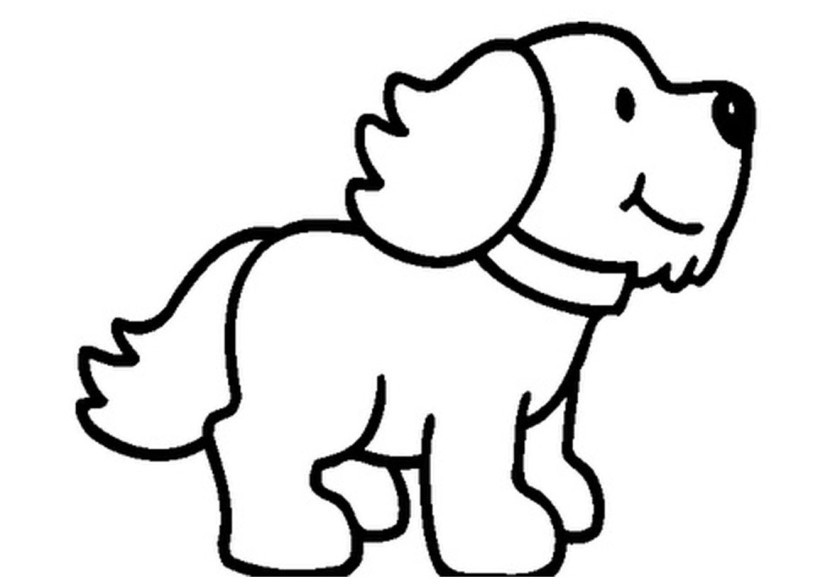830x586 Puppy clipart black and white