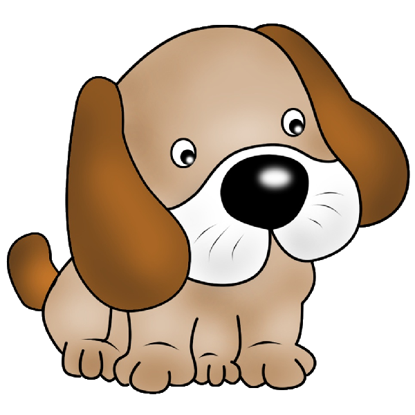 600x600 Puppy pictures of cute cartoon puppies clipart image 1