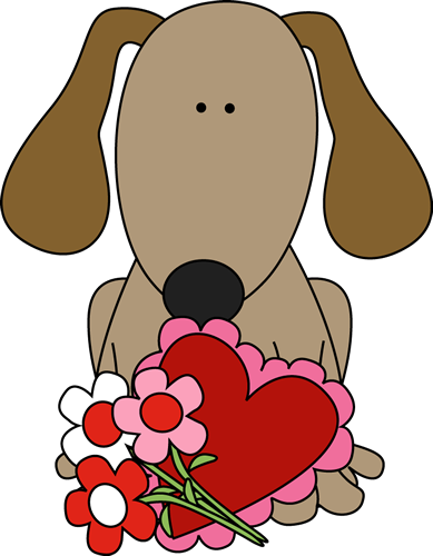 389x500 Valentine#39s Day Dog Clip Art