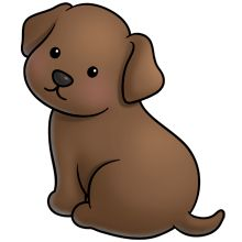 220x220 Brown Clipart Puppy