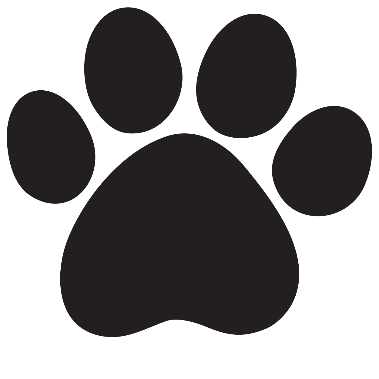 1250x1250 Paw Print Free Download Clip Art Free Clip Art On Clipart