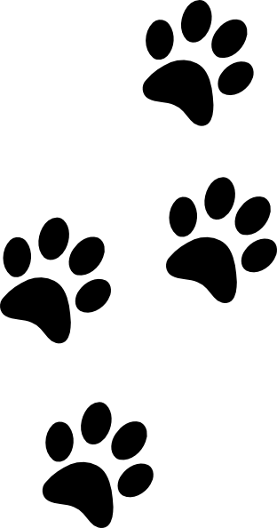 312x594 Black Paws Clip Art