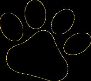 300x267 Black Pet Paw Clip Art