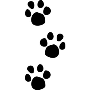 300x300 Dog Paw Print Stamps Dog Prints Clip Art Clipartcow