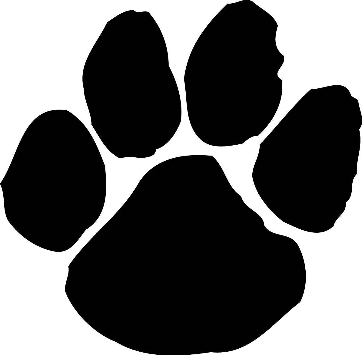 1195x1173 Cat Paw Clipart Of Dog Paw Prints Clipartfox