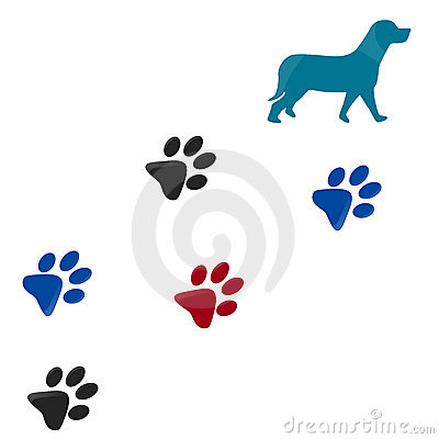 400x400 Clipart Dog Paw Prints