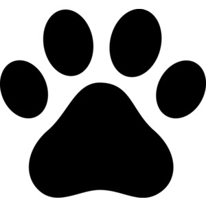 300x300 Paw Print Clipart Images