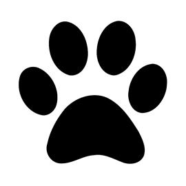 270x270 Dog Paw Print Stencil Free Stencil Gallery