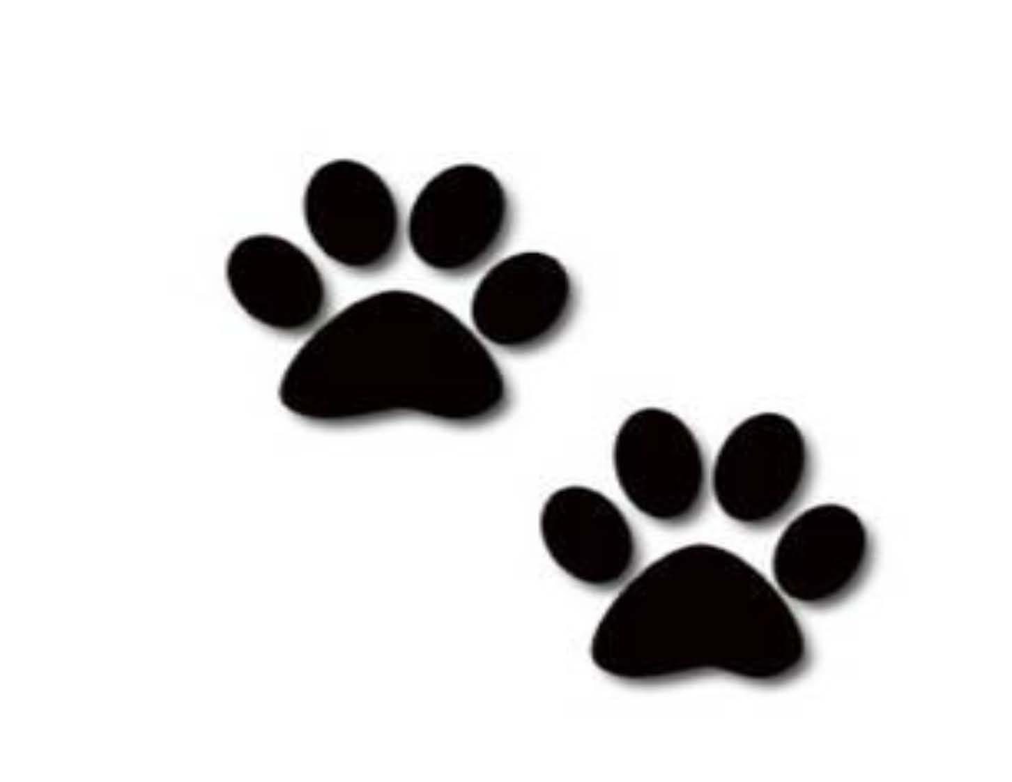 1452x1122 Dog Prints Clipart