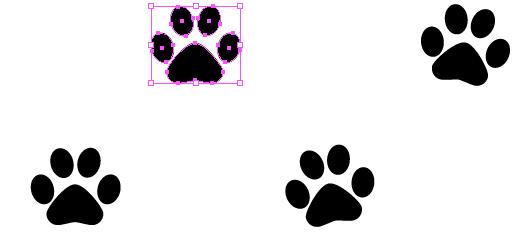 531x232 Drawn Puppy Paw Print