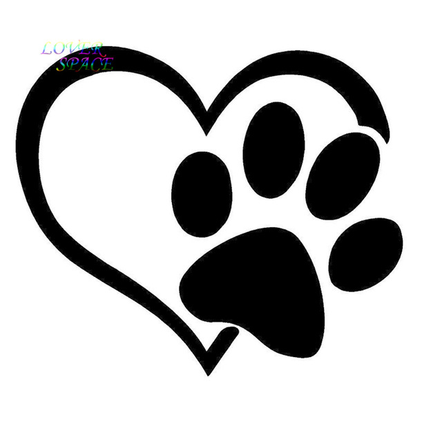 640x640 Puppy I Love My Dog Window Sticker Vinyl Decal Small Or Large! Paw