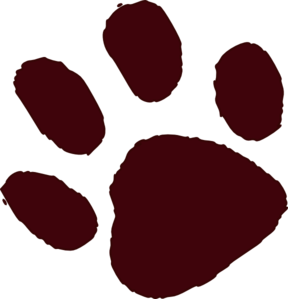 288x299 Paw Print Outline Clipart