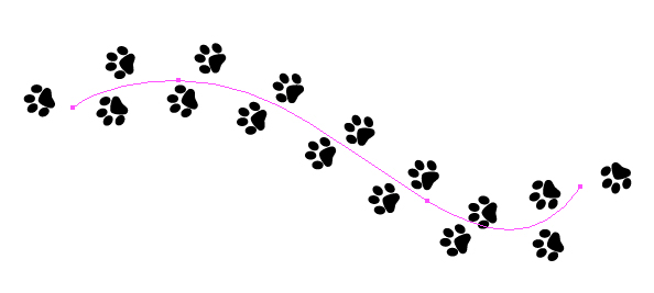 594x267 Quick Tip How To Create A Simple Paw Print Scatter Brush In Adobe