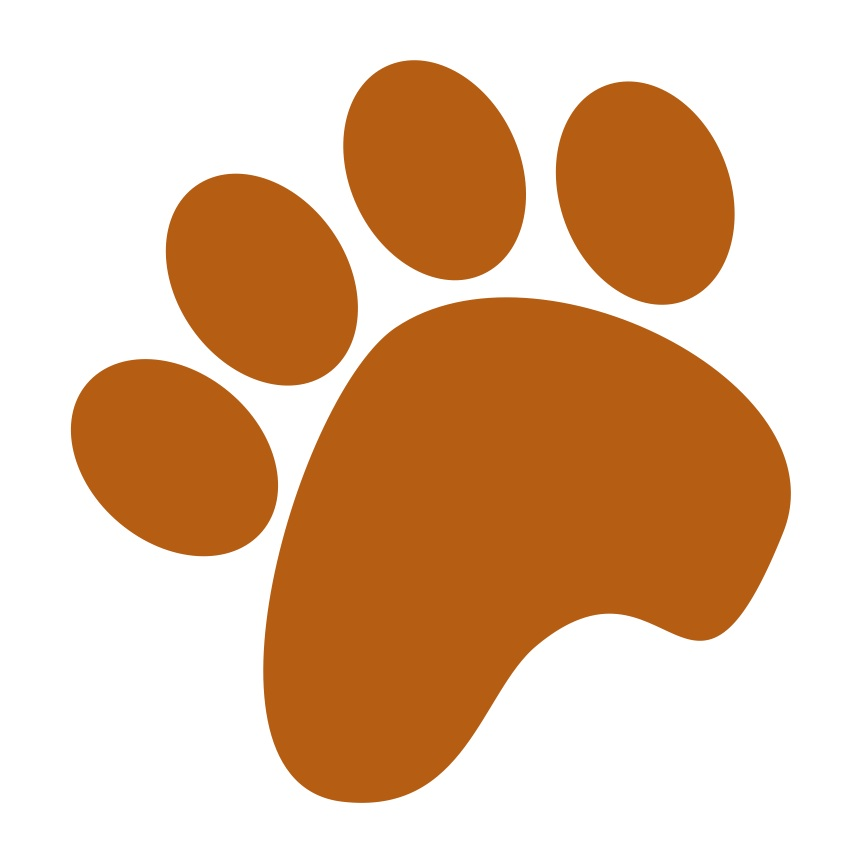 864x864 Paw Print Clipart Brown