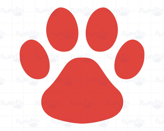 570x456 Dog Paw Prints Clipart, Animal Pet Paws Print Icon Cliparts Feet