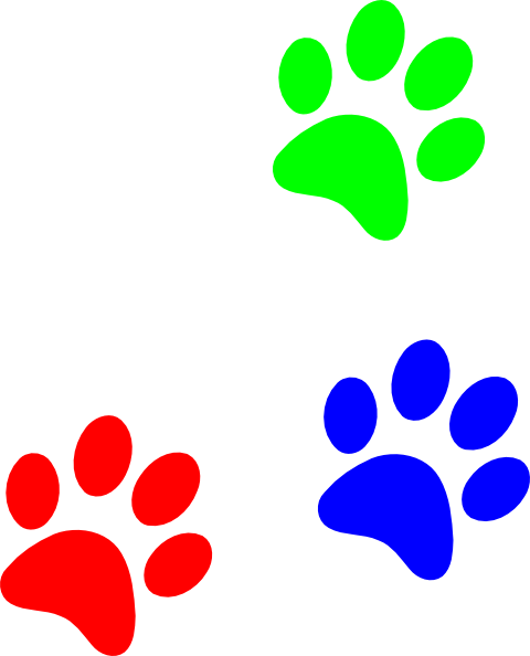 480x594 Paw Clipart Colored