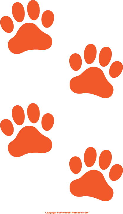 417x723 Paw Print Paw Border Clipart 5