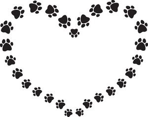 300x237 Dog Paw Print Clip Art Black And White Puppy Dog Clip Art