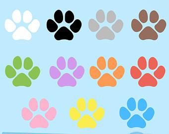 340x270 Paw Print Cliparts Pet Clip Art. Dog Cat Paws Print Clipart