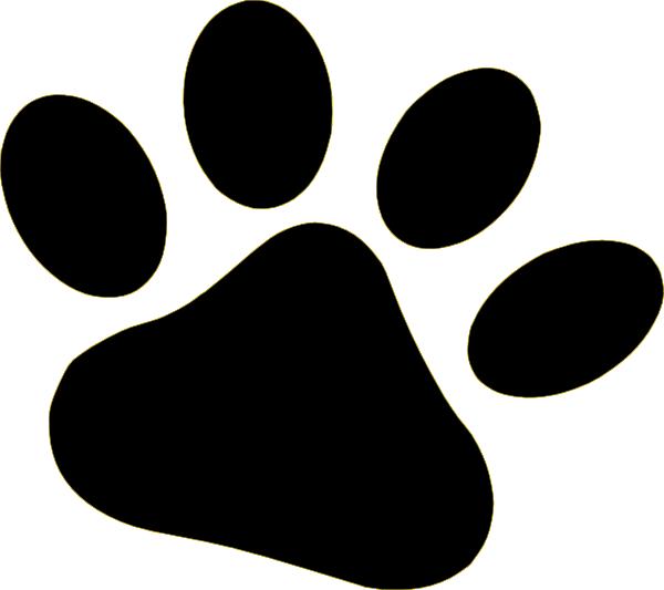 600x533 Black Pet Paw Clip Art
