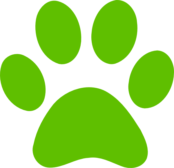 600x578 Red Puppy Paw Print Clipart