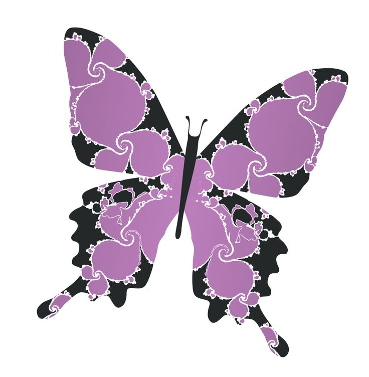 Purple Butterfly Cliparts