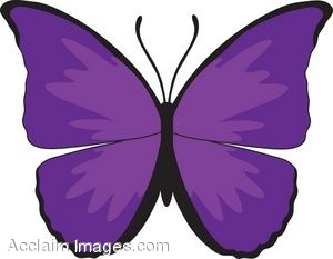 300x233 Butterfly Clipart Purple Butterfly