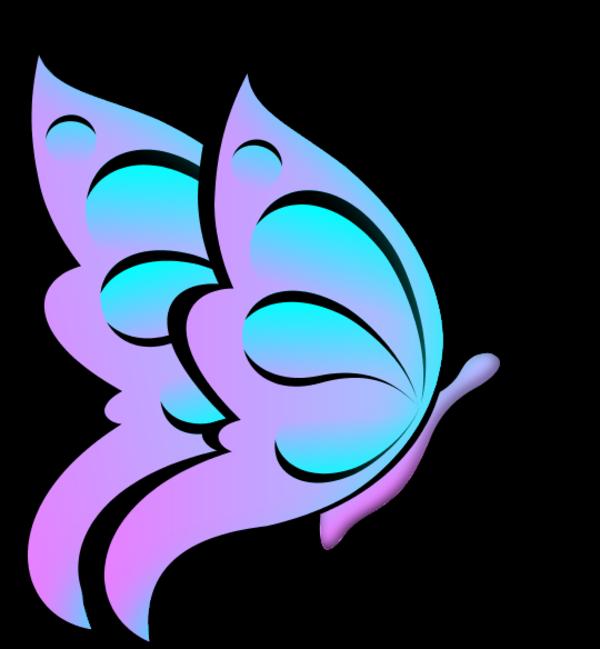 600x649 Butterfly Clipart Purple Butterfly