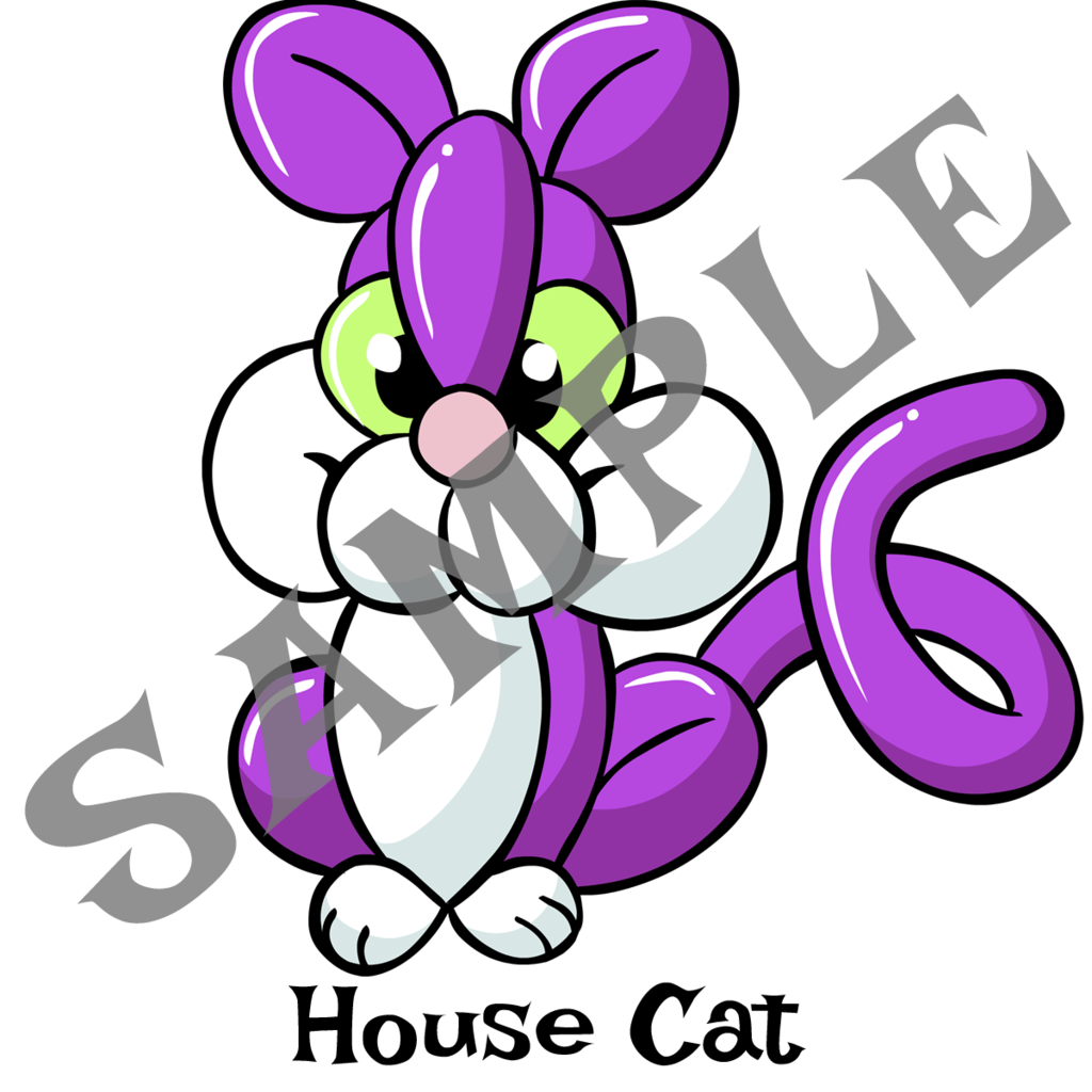 1024x1024 House Cat Twister Sister Balloon Supplies