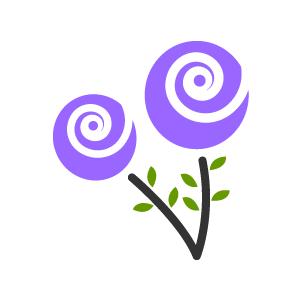 300x300 Purple Flower Clipart Purple Background
