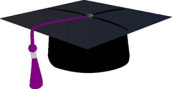 600x312 Graduation Hat With Purple Tassle Clip Art