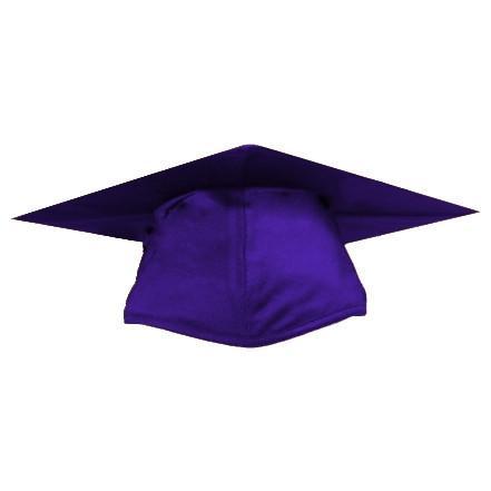 441x441 Kinder Graduates Shiny Purple Graduation Cap