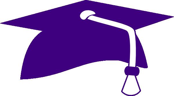 600x332 Purple Graduation Cap Clipart