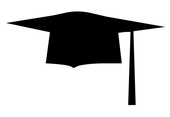 544x374 Black Graduation Cap Clipart