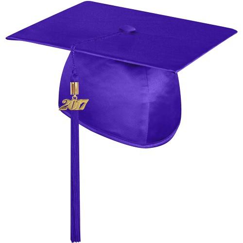 500x500 Shiny Purple Graduation Cap With Tasselhigh School