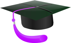 240x145 Graduation Cap Purple Tassle