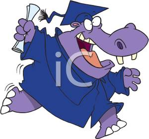 300x280 Image A Purple Hippo Wearing A Graduation Cap And Gown