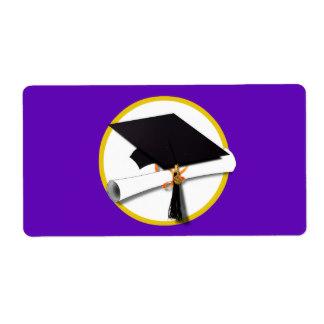 324x324 Purple Graduation Caps Cards