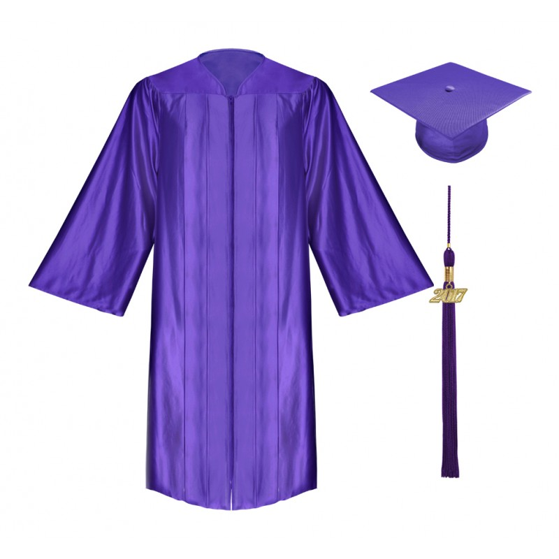 800x800 Shiny Purple High School Cap, Gown Amp Tassel Gradshop