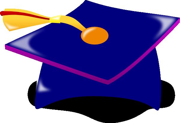 600x412 Graduation Cap Blue Clipart