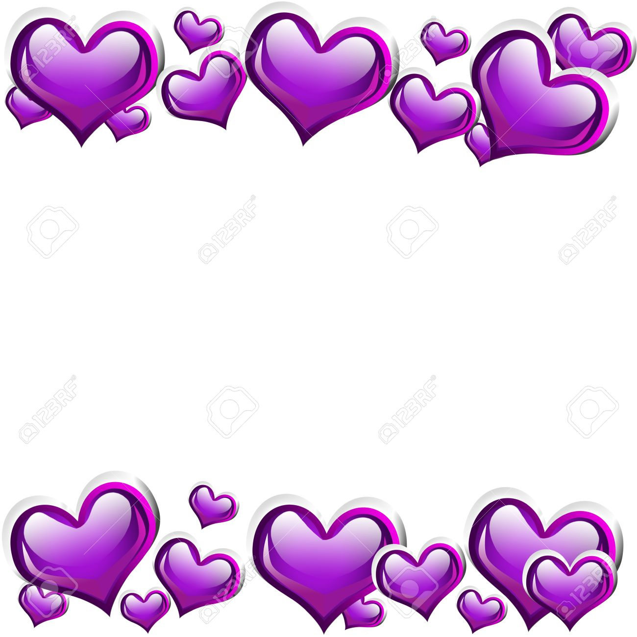 Purple Hearts Clipart | Free download on ClipArtMag