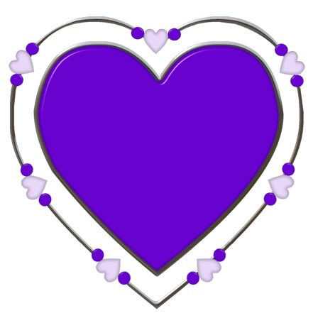 Purple Hearts Clipart
