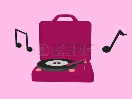 450x338 Music Notes And Headphones On A Green Background Stock Photo