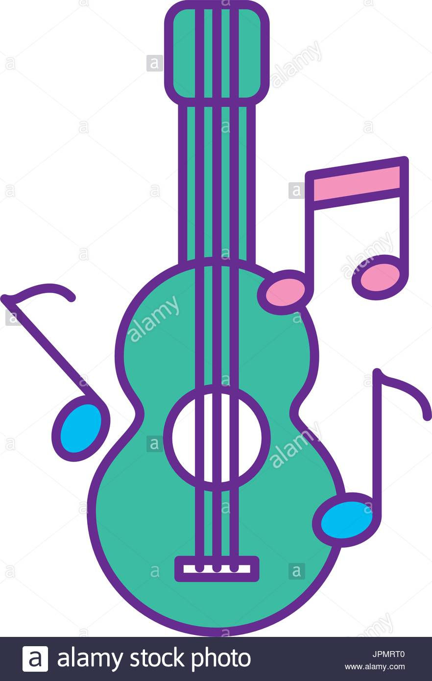 882x1390 Acoustic Guitar Musical Notes Vector Stock Photos Amp Acoustic