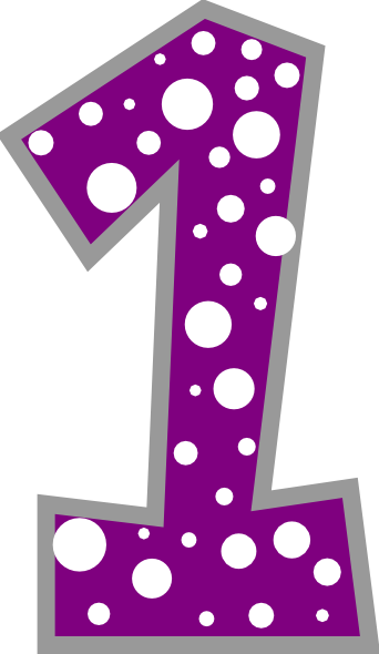 Purple Number 1 Cliparts