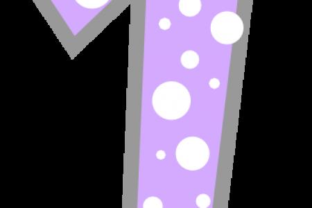 450x300 Polka Dot Numbers Clip Art