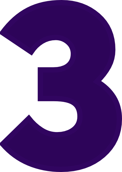 426x598 Purple Number 1 Clipart