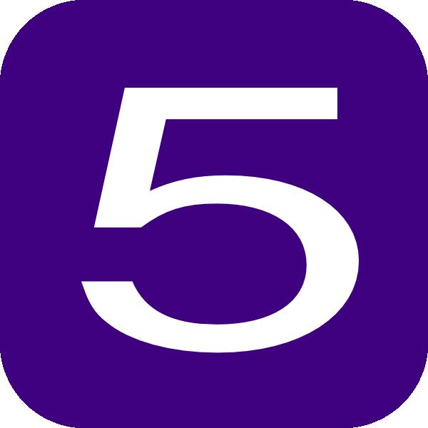 600x600 Purple Number 5 Clip Art